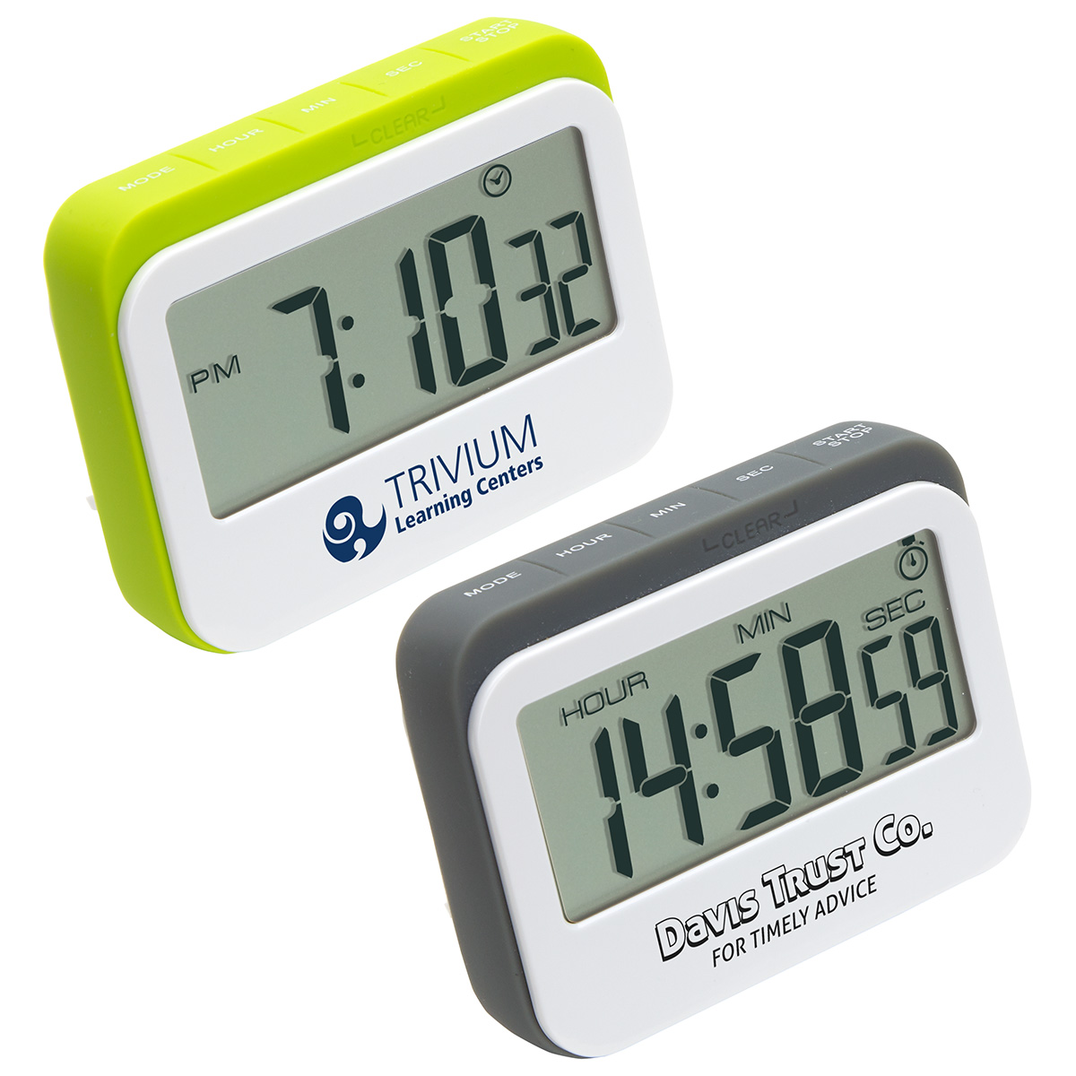 Soft Touch Widescreen Kitchen Timer/Clock, WKA-KT16 - 1 Colour Imprint