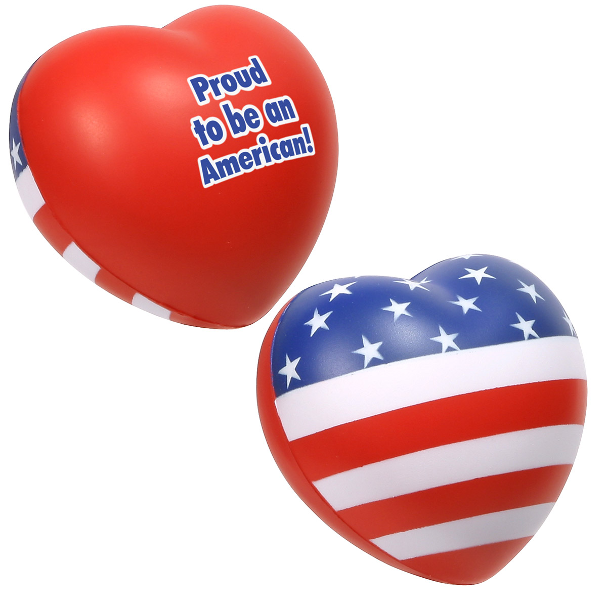 Patriotic Valentine Heart Stress Reliever, LPA-VH07 - 1 Colour Imprint