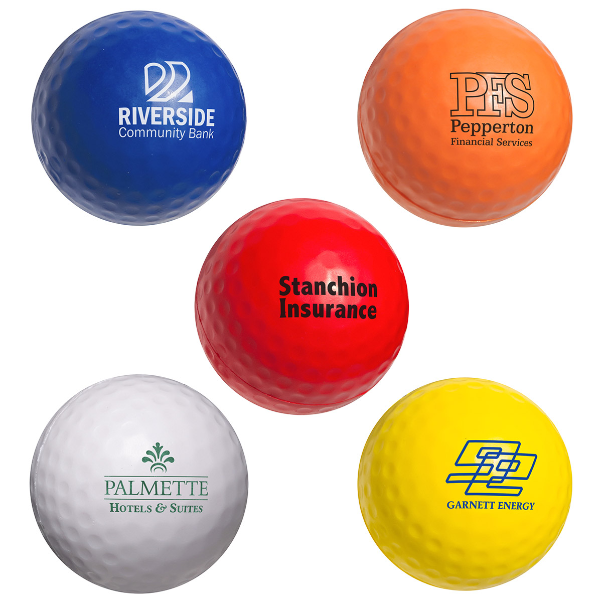 Golf Ball Stress Reliever, LSP-GF04, 1 Colour Imprint