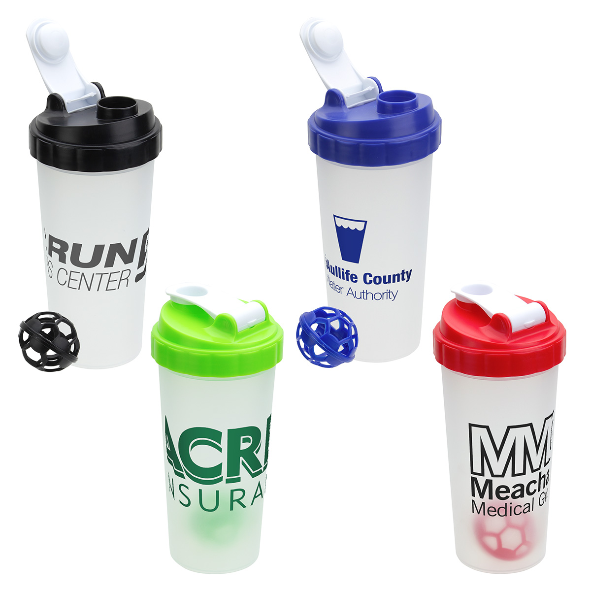 Flip-Top 20 oz Plastic Shaker Tumbler, DTM-FT18, 1 Colour Imprint
