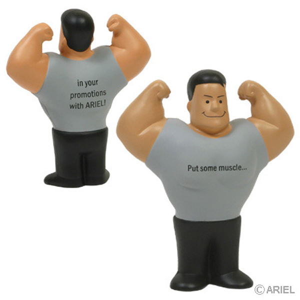 Muscle Man Stress Reliever, LSP-MM01 - 1 Colour Imprint