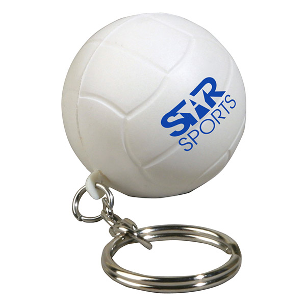 Volleyball Stress Reliever Keychain, LKC-VL08 - 1 Colour Imprint