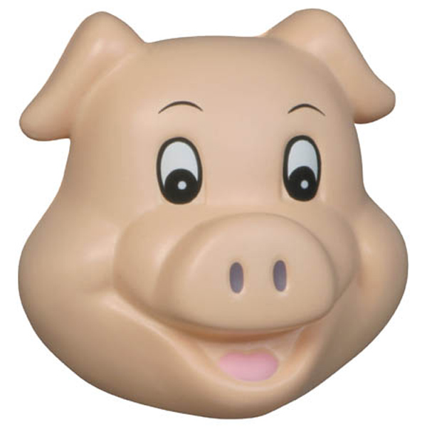 Pig Funny Face Stress Reliever, LFF-PF04 - 1 Colour Imprint