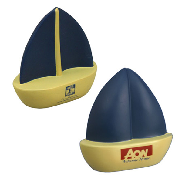 Sailboat Stress Reliever, LTV-SA01 - 1 Colour Imprint