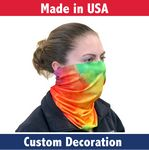 Custom Economy Fabric Adult Neck Gaiter- Made in the USA