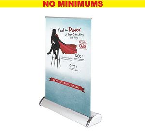 Silver Table Top Stand  Full Color, No Minimum, No Setup!