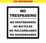 Metal-24x24-One Sided Sign. Full color.