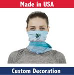 Custom Fabric Adult Neck Gaiter- Custom Full-Color Printed Mask-Sewn In USA