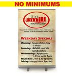 Custom Tradition Junior - 3-n-1 Retractable Banner - Silver stand. Full Color, No Minimum