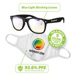 Custom Blue Light Blockers & Reusable Face Mask Kit