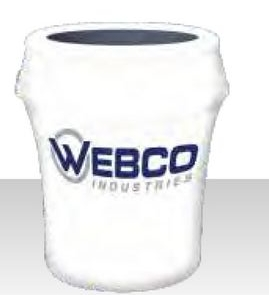 33 Gallon White Bin Cover w/ Logo