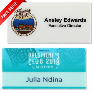 Apollo Full Color Plastic Name Badge (1.5