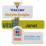 Custom Siren full color shaped badge 3-6sq