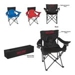 Custom Portable Collapsible Padded Folding Chair with Bag