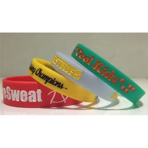 1/2 Ink Injected Custom Silicone Wristbands