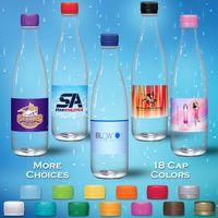 16.9 oz. Spring Water, Clear Glastic Bottle w/Tangerine Orange Cap