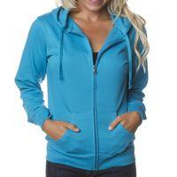 Independent Trading Company Juniors' Lightweight Zip Hooded Sweatshirt