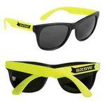 Neon Yellow Retro Custom Sunglasses