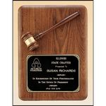 Custom Walnut Plaque with Walnut Gavel 11x15