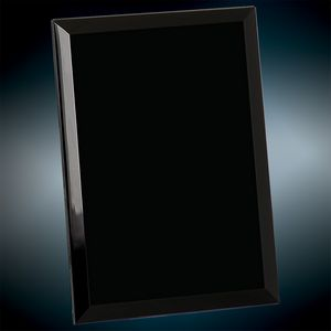 "6"" x 8"" Black Glass Mirror Plaque"