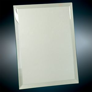 "8"" x 10"" Clear Glass Mirror Plaque"