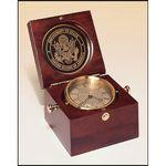 Custom Captains Clock Hand Rubbed Mahoganyfinish Case. 5.5x5.5
