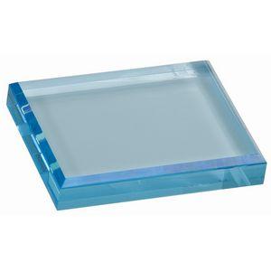 Custom Blue Acrylic Paperweight (4 1/2
