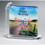 Custom Full color printed glass award 4 7/8