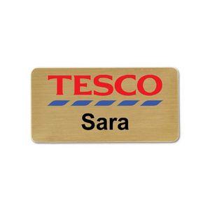 1 5x3 Inch Gold Aluminum Name Badge