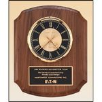 Custom Walnut Vertical Wall Clock. 10.5x13