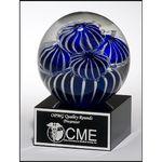 Custom Art glass globe 3.5x5