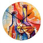 Custom 11.4 inch Full Color Round Large Wall Clock