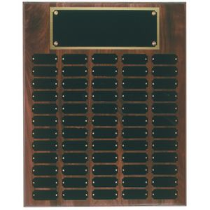 Custom 60 Plate Genuine Walnut Completed Perpetual Plaque