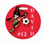 Custom 4 inch Full Color Round Sport Bag Tag