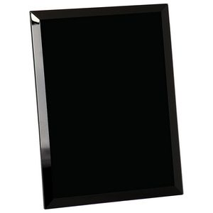 "7"" x 9"" Black Glass Mirror Plaque"