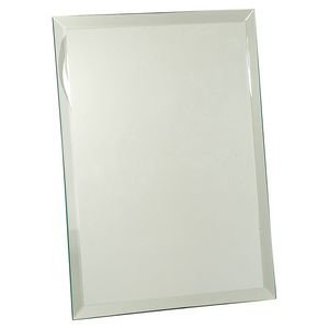 "9"" x 12"" Clear Glass Mirror Plaque"