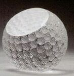 Crystal Golf Ball Paperweight (3 1/8