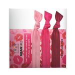 Custom Three Solid Color Hair Ties with Custom Printed Card/Cello - 3 pack