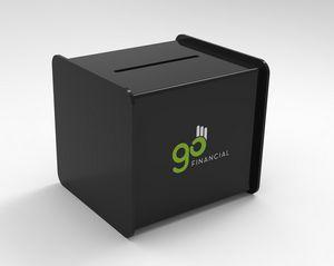 Black Acrylic Ballot/ Suggestion Box (6x5x4)