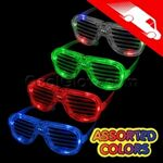 LED Rock Star Shutter Shades Assorted