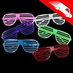 Shutter Shades Slotted Eye Glasses Assorted