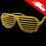 Metallic Gold Shutter Shades Sunglasses