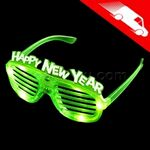 LED New Year Shutter Shades Green