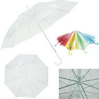 "Wide Season Transparent Umbrella (28""x36 1/2"" Diameter - Open)"