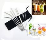 Custom Silver Straw With Cleaning Brush