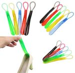 Custom Short Plastic Handled Shoehorn With Hanging Ring