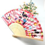 Custom Oriental Style Collapsible Crafted Bamboo Paper Fan
