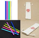 Custom Flexible Silicone Straws With Cleaning Brushes