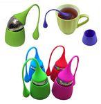Custom Drip Silicone Handle Tea Infuser/Strainer