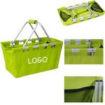 Custom Collapsible Double Handle Portable Basket - 600D Oxford